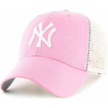 Cappellino trucker rosa di New York Yankees MLB di 47 Brand