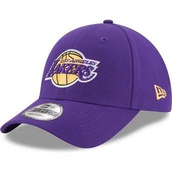 Cappellino visiera curva viola regolabile 9FORTY The League di Los Angeles Lakers NBA di New Era