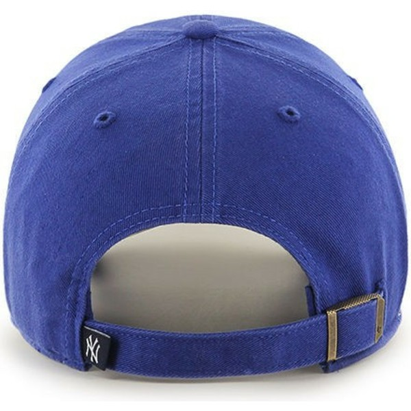 cappellino-visiera-curva-blu-per-bambino-di-new-york-yankees-mlb-clean-up-youth-di-47-brand