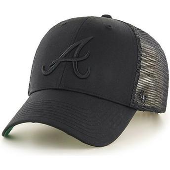 Cappellino trucker nero con logo nero di Atlanta Braves MLB MVP Branson di 47 Brand