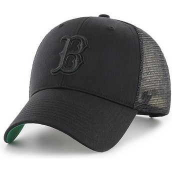 Cappellino trucker nero con logo nero di Boston Red Sox MLB MVP Branson di 47 Brand