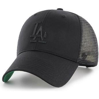Cappellino trucker nero con logo nero di Los Angeles Dodgers MLB MVP Branson di 47 Brand