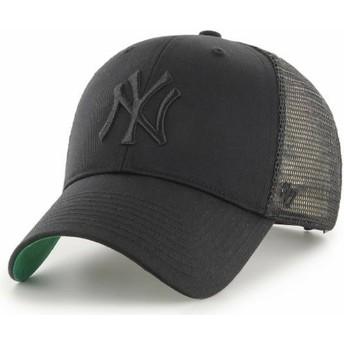 Cappellino trucker nero con logo nero di New York Yankees MLB MVP Branson di 47 Brand