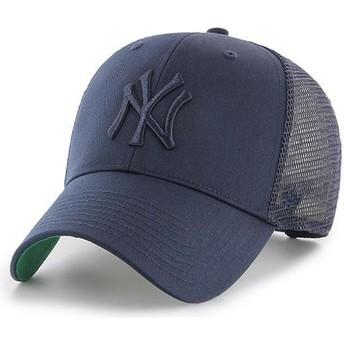 Cappellino trucker blu marino con logo blu marino di New York Yankees MLB MVP Branson di 47 Brand