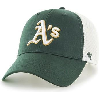 Cappellino trucker verde di Oakland Athletics MLB MVP Branson di 47 Brand