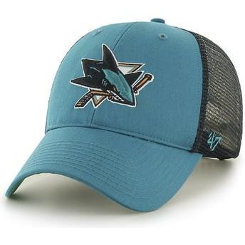 Cappellino trucker verde di San Jose Sharks NHL MVP Branson di 47 Brand