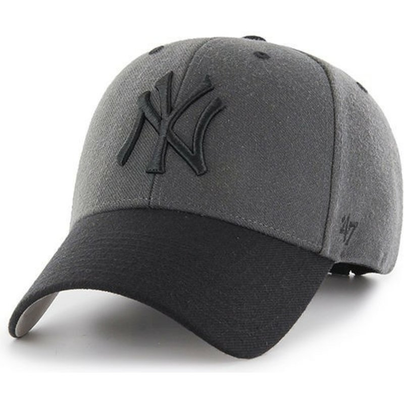cappellino-visiera-curva-nero-claro-di-new-york-yankees-mlb-mvp-audible-2-tone-di-47-brand