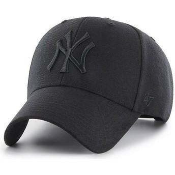 Cappellino visiera curva nero snapback con logo nero di New York Yankees MLB MVP di 47 Brand