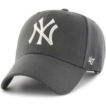 Cappellino visiera curva grigio scurosnapback di New York Yankees MLB MVP di 47 Brand