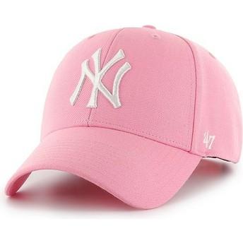 Cappellino visiera curva rosa snapback di New York Yankees MLB MVP di 47 Brand