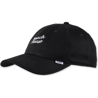 Cappellino visiera curva nero regolabile Texting Beach Please di Djinns