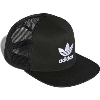 Cappellino trucker nero Trefoil di Adidas
