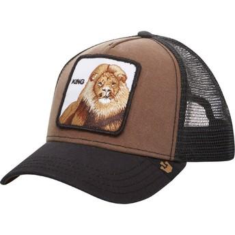 Cappellino trucker marrone Re Leone di Goorin Bros.