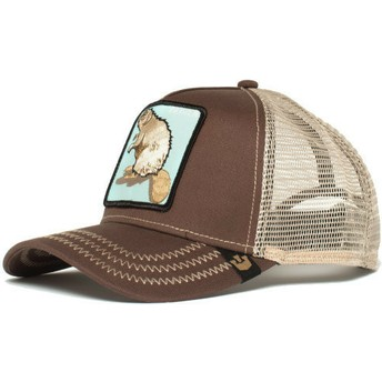 Cappellino trucker marrone castoro Beaver di Goorin Bros.