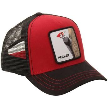 Cappellino trucker rosso Picchiarello Woody Wood di Goorin Bros.