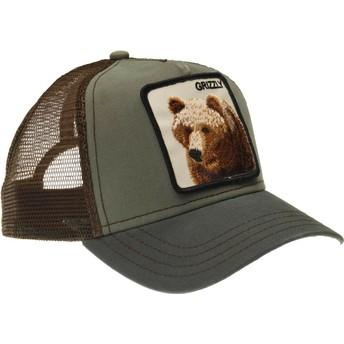 Cappellino trucker verde orso Grizz di Goorin Bros.