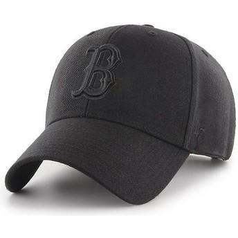 Cappellino visiera curva nero snapback con logo nero di Boston Red Sox MLB MVP di 47 Brand