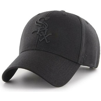 Cappellino visiera curva nero snapback con logo nero di Chicago White Sox MLB MVP di 47 Brand
