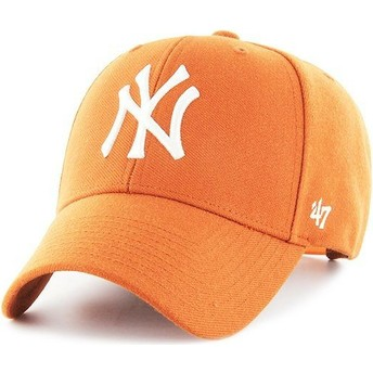 Cappellino visiera curva arancione snapback di New York Yankees MLB MVP di 47 Brand