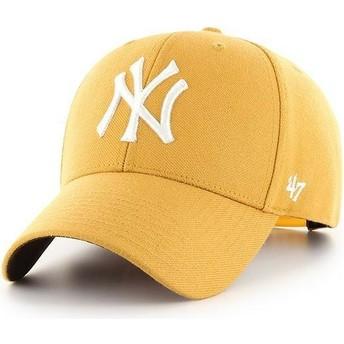 Cappellino visiera curva giallo snapback di New York Yankees MLB MVP di 47 Brand