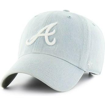 Cappellino visiera curva blu chiaro di Atlanta Braves MLB Clean Up Meadowood di 47 Brand