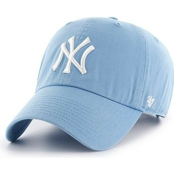 Cappellino visiera curva blu Columbia di New York Yankees MLB Clean Up di 47 Brand