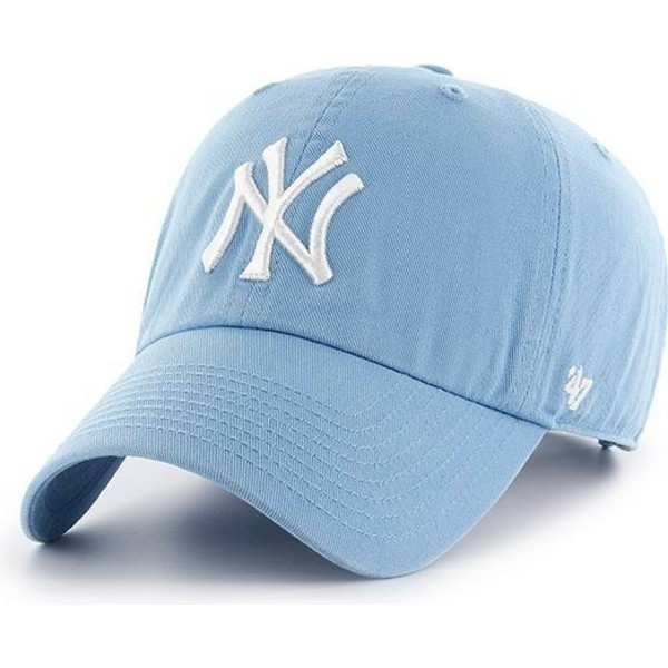 cappellino-visiera-curva-blu-columbia-di-new-york-yankees-mlb-clean-up-di-47-brand