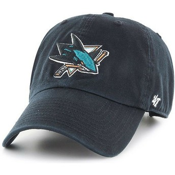 Cappellino visiera curva nero di San Jose Sharks NHL Clean Up di 47 Brand