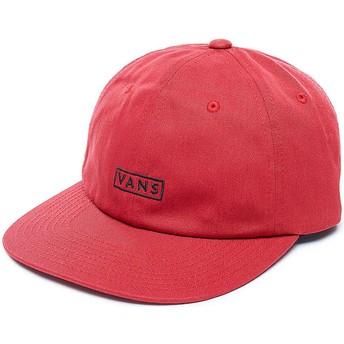 Cappellino visiera curva rosso regolabile Bill di Vans