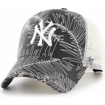 Cappellino trucker nero di New York Yankees MLB MVP Palma di 47 Brand