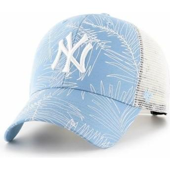 Cappellino trucker blu chiaro di New York Yankees MLB MVP Palma di 47 Brand