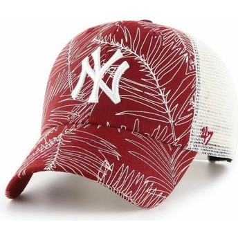 Cappellino trucker rosso di New York Yankees MLB MVP Palma di 47 Brand