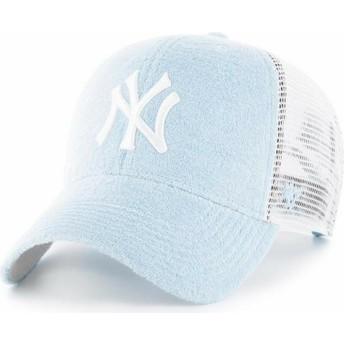 Cappellino trucker blu chiaro di New York Yankees MLB MVP Weatherbee di 47 Brand
