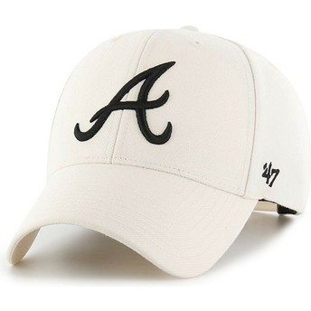 Cappellino visiera curva crema snapback di Atlanta Braves MLB MVP di 47 Brand
