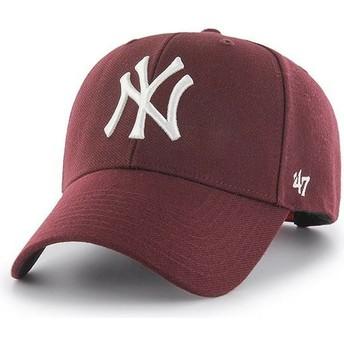 Cappellino visiera curva bordeaux snapback di New York Yankees MLB MVP di 47 Brand