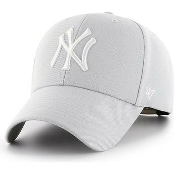 Cappellino visiera curva grigio argento snapback di New York Yankees MLB MVP di 47 Brand