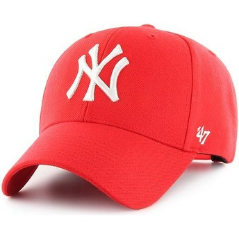 Cappellino visiera curva rosso snapback di New York Yankees MLB MVP di 47 Brand
