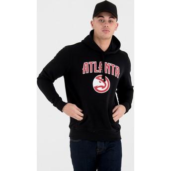 Felpa con cappuccio nera Pullover Hoody di Atlanta Hawks NBA di New Era