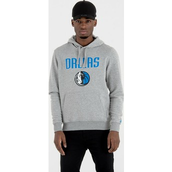 Felpa con cappuccio grigia Pullover Hoody di Dallas Mavericks NBA di New Era