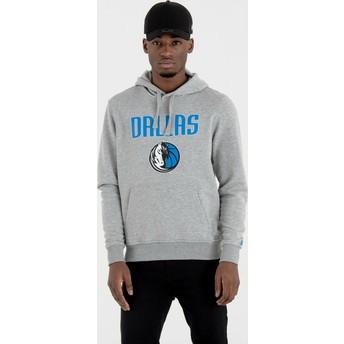Felpa con cappuccio grigia Pullover Hoody di Dallas Mavericks NBA di New Era