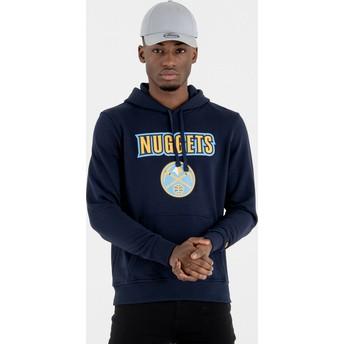 Felpa con cappuccio blu marino Pullover Hoody di Denver Nuggets NBA di New Era
