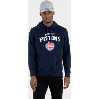 Felpa con cappuccio blu marino Pullover Hoody di Detroit Pistons NBA di New Era