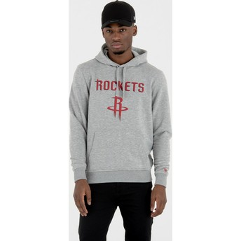 Felpa con cappuccio grigia Pullover Hoody di Houston Rockets NBA di New Era