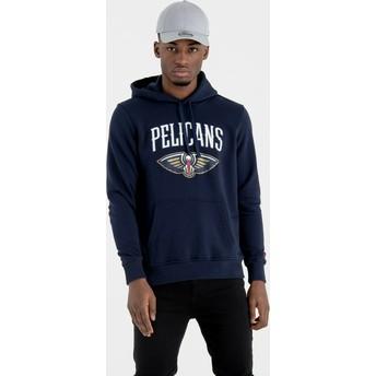 Felpa con cappuccio blu marino Pullover Hoody di New Orleans Pelicans NBA di New Era
