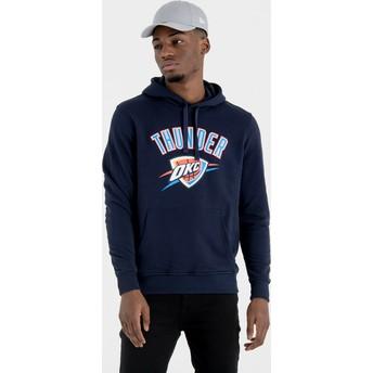 Felpa con cappuccio blu marino Pullover Hoody di Oklahoma City Thunder NBA di New Era