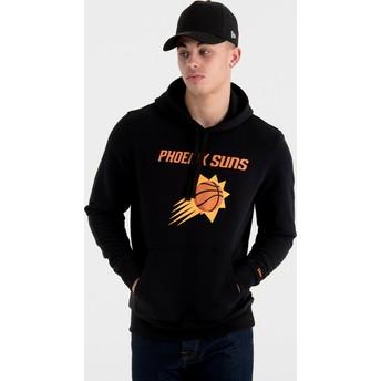 Felpa con cappuccio nera Pullover Hoody di Phoenix Suns NBA di New Era