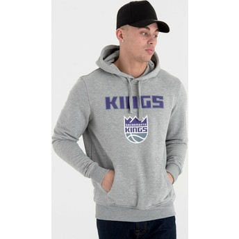 Felpa con cappuccio grigia Pullover Hoody di Sacramento Kings NBA di New Era