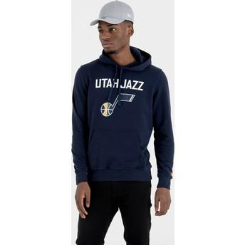 Felpa con cappuccio blu marino Pullover Hoody di Utah Jazz NBA di New Era