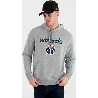 Felpa con cappuccio grigia Pullover Hoody di Washington Wizards NBA di New Era