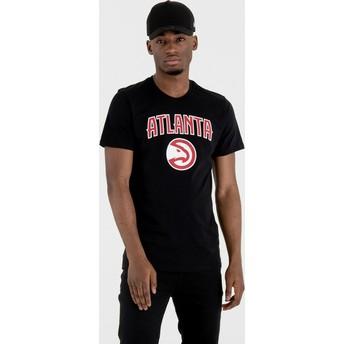 Maglietta maniche corte nera di Atlanta Hawks NBA di New Era